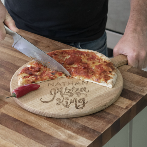 Personalised 'Pizza King' Pizza Board - Designed in England