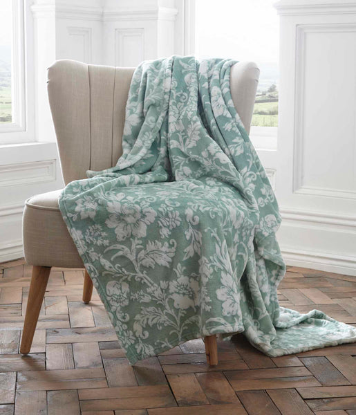 Fleece Throw Pascal 130X170 Cm Jade