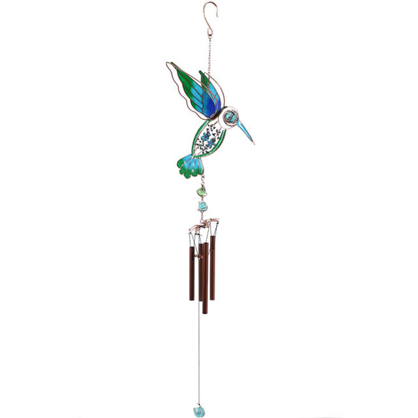 Blue/Green Hummingbird Windchime