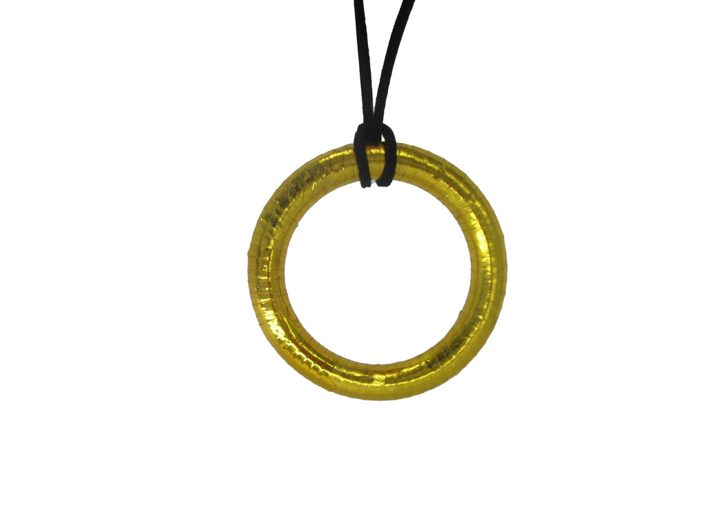 NC4401IP Metallic Donut Necklace, Pack of 2