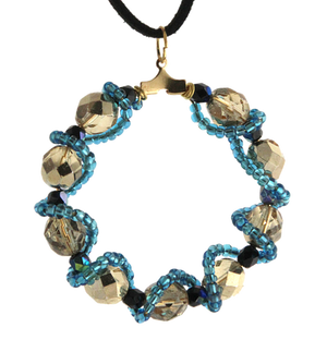 NC4411 Beaded Wrapped Pendant