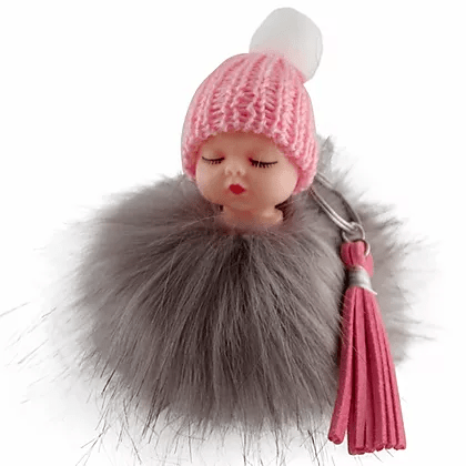 M3421IP Fur Doll Keychain