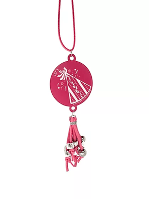 ENC4400 Engraved Tassel Necklace