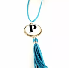 NC4410 Initial Tassel Necklace