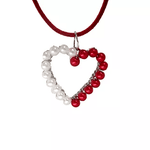 NC4437 2 Color Heart Pendant