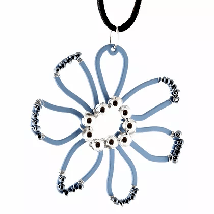 NC4402 Beaded Flower Pendant