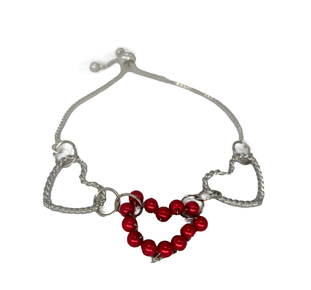 B2421IP Heart Slide Bracelet