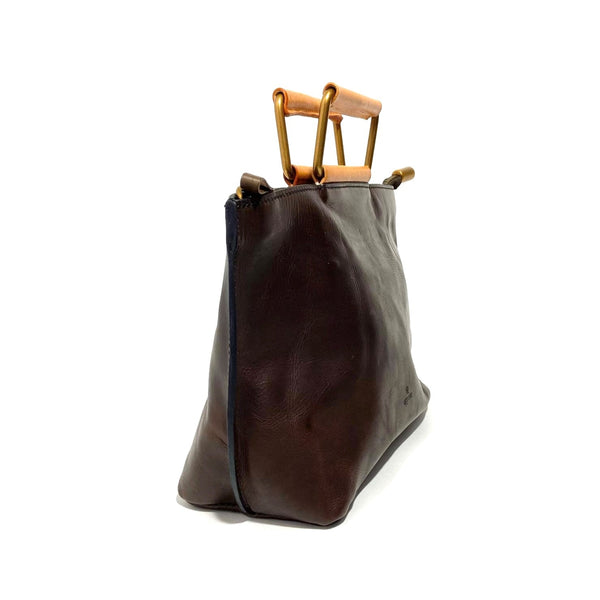 'Joy Handle Bag Small' Chocolate