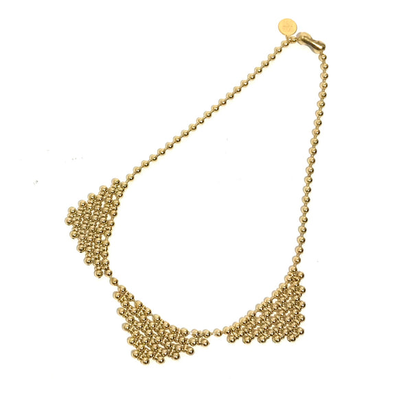 'Triple Bib Necklace' 22K Gold Electroplate