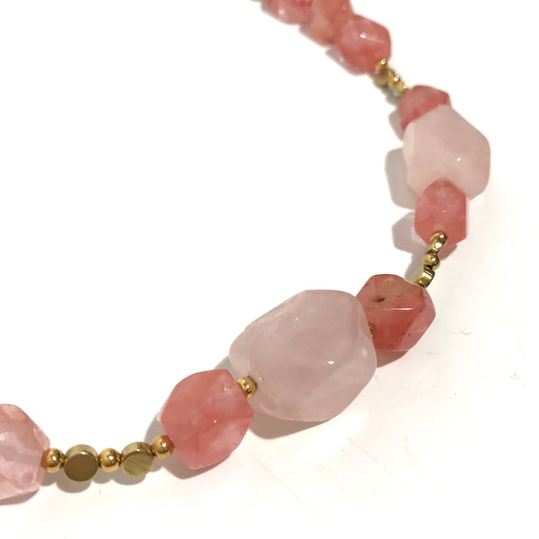 'Chunky Pink BOHO Necklace'