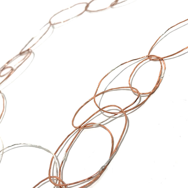 'Double Strand Copper Links Necklace'