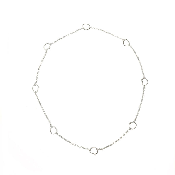 "'Organic Circles 30"" Necklace'"