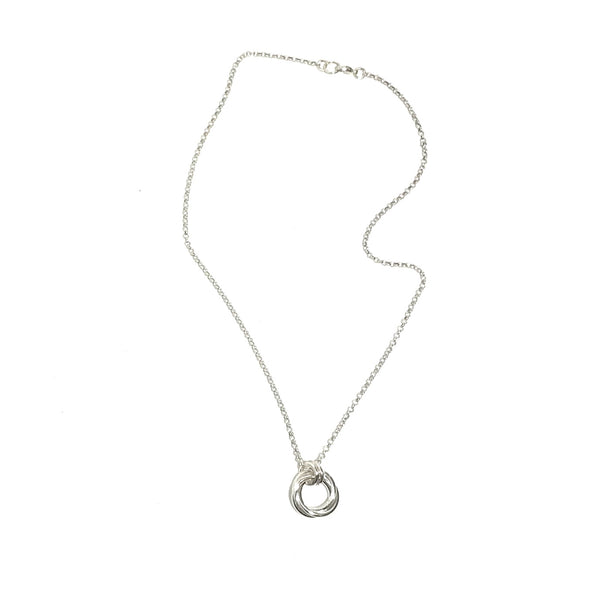 'Triple Circle Knot Necklace' Sterling Silver