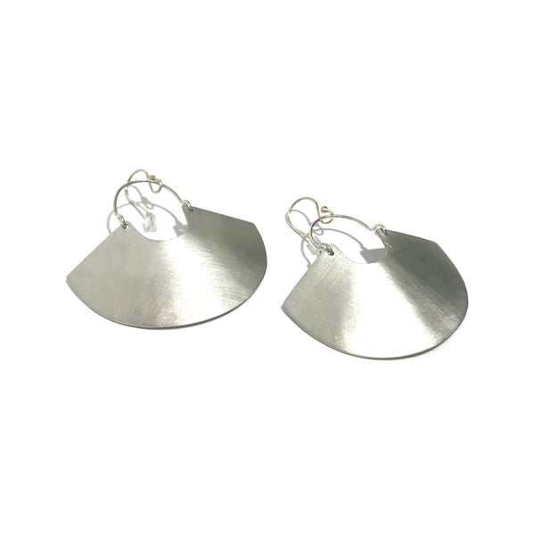 'Goddess Shield Earring' Mini Silver
