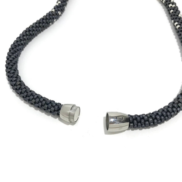 'Stardust Necklace' Grey/Sterling Silver