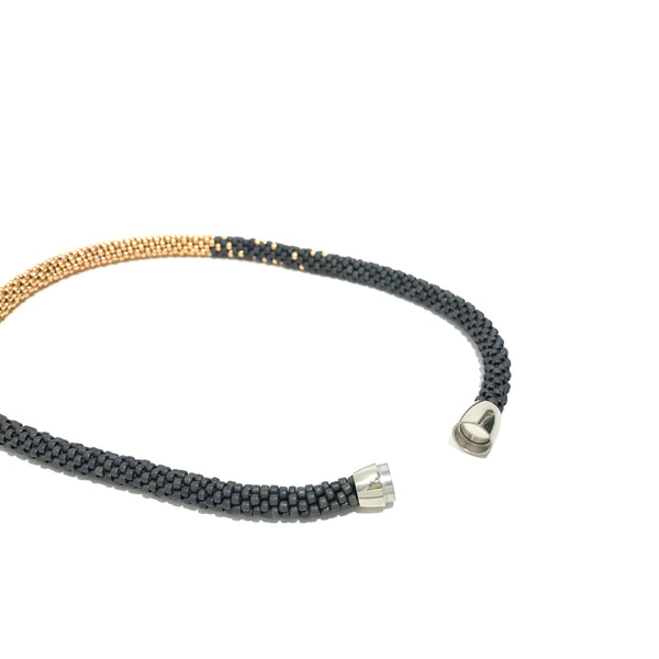 'Stardust Necklace' Grey/Yellow Gold