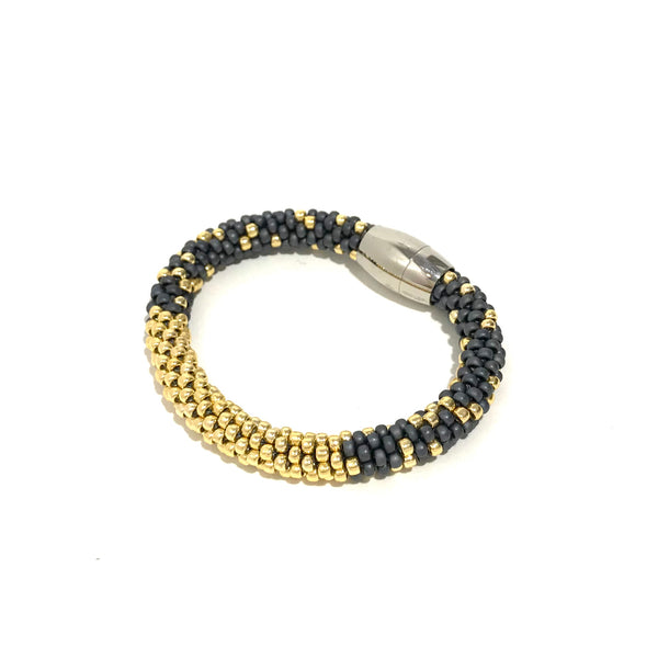 'Stardust Bracelet' Grey/Yellow Gold