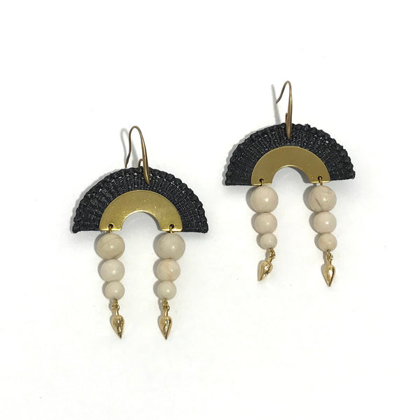 'Dunes Earrings' Black/White