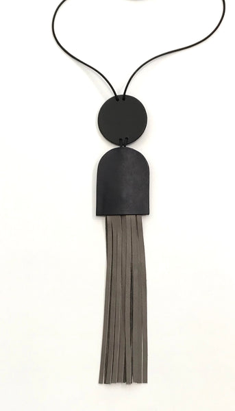 'Grey Fringe Necklace'