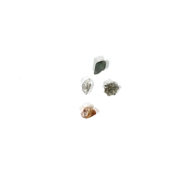 'Mixed Raw Gem Studs - Set of 4'