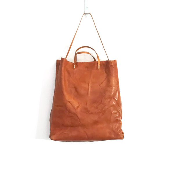'Cabas Shopper' Distressed Tan