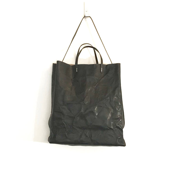 'Cabas Shopper' Distressed Black