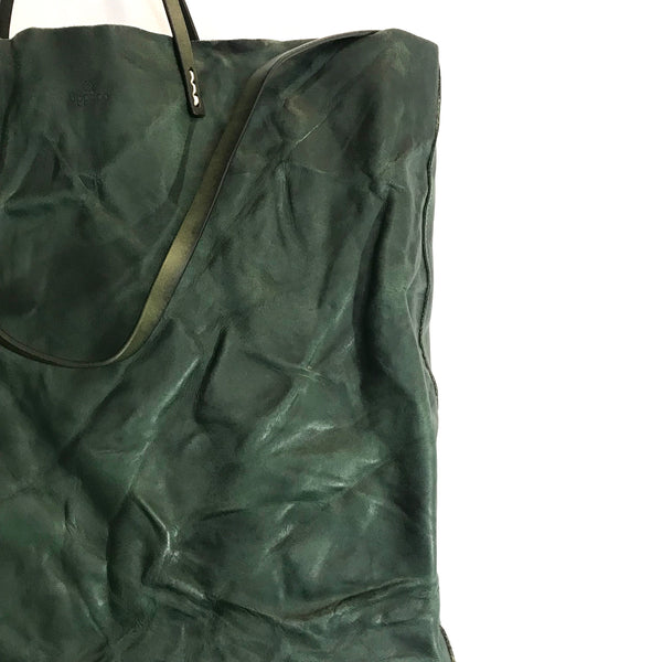 'Cabas Distressed Shopper' Green