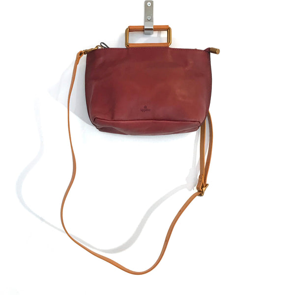 'Joy Handle Bag Small' Oxblood
