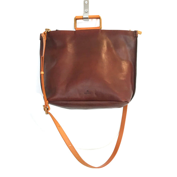 'Joy Handle Bag Large' Brown