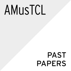 Theory of Music Past Papers (English): AMusTCL