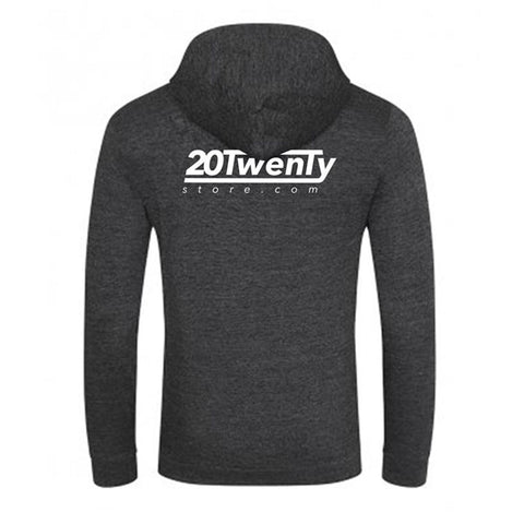 20Twenty Black Heather Zip Hoody Back