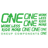 OneUp Components Decal Kit Green