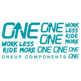 OneUp Components Decal Kit Turq