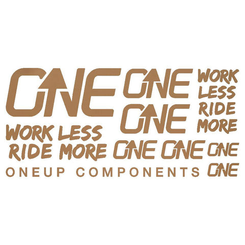 OneUp Components Decal Kit Matt Bronze