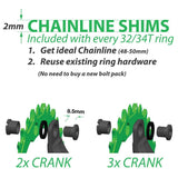OneUp Nw Chainring Chainline Shims Chainrings Infographic