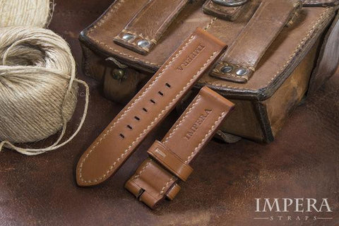 Genuine H Barenia Leather Watch Strap