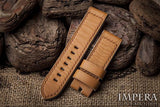 Tannery Painted Genuine French Calf Leather Watch Strap