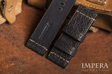 Black Shark Leather Watch Strap