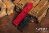 Red Shark Leather Watch Strap