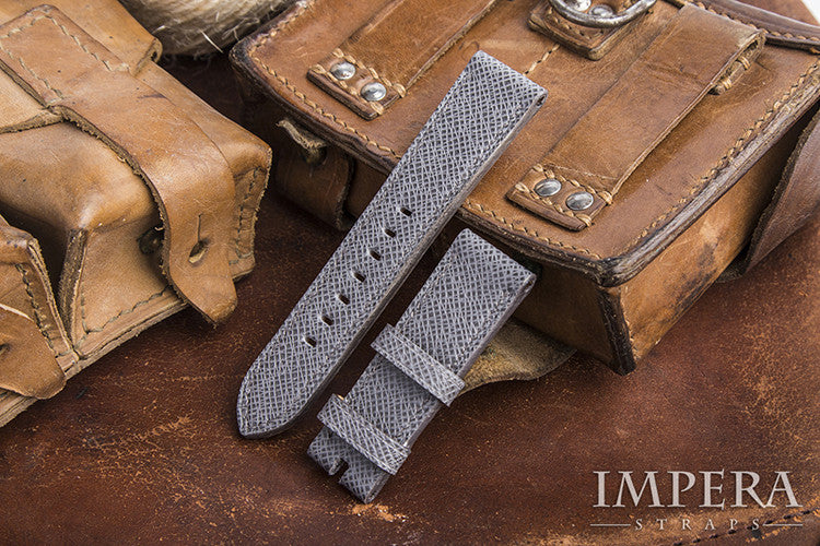 Louis Vuitton Taiga Grey Leather Watch Strap