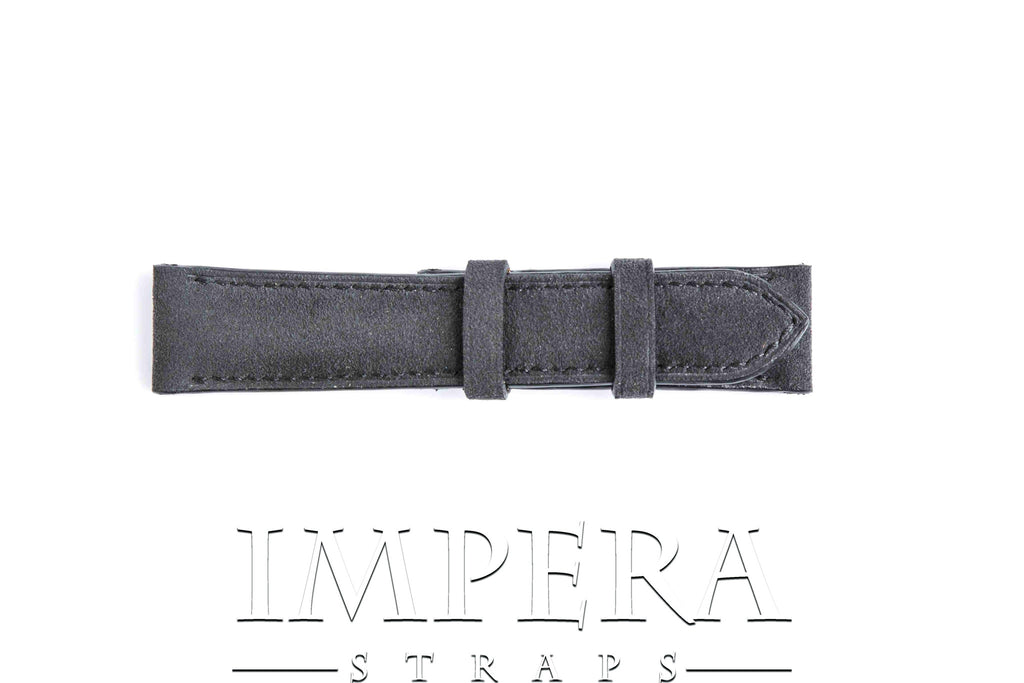 Genuine Charcoal Grey Alcantara Watch Strap