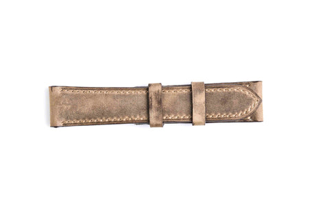 Genuine Light Brown Pull Up Calf Leather Watch Strap