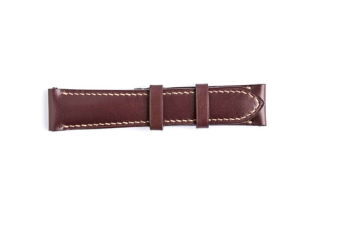 Genuine Burgundy French Calf Leather Watch Strap