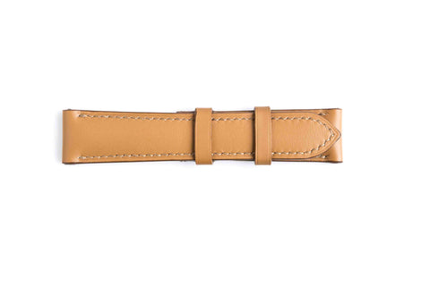 Tannery Painted Genuine Calf Leather Watch Strap