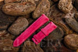 Nubuck Surface Pink Calf Leather Watch Strap
