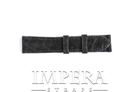 Geniune Black Elephant Leather Watch Strap
