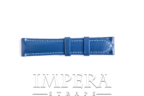 Genuine Blue LV EPI Leather (Pre-Embossed) Watch Strap