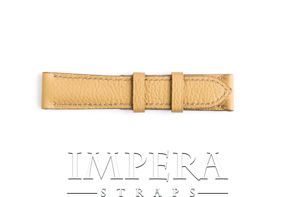 Genuine Hermes Natural Sable Clemence Leather Watch Strap