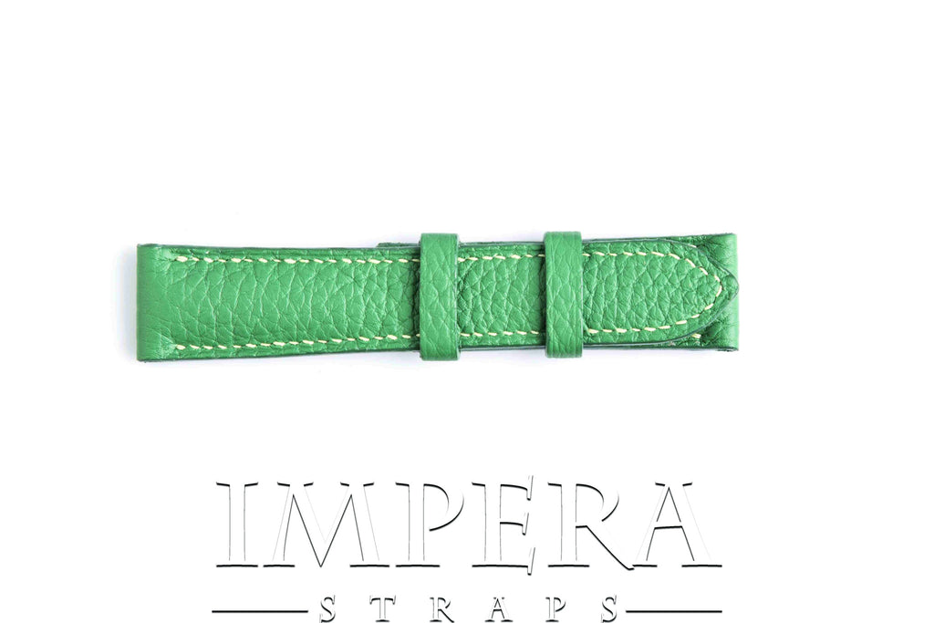Genuine Hermes Bambou Green Clemence Leather Watch Strap