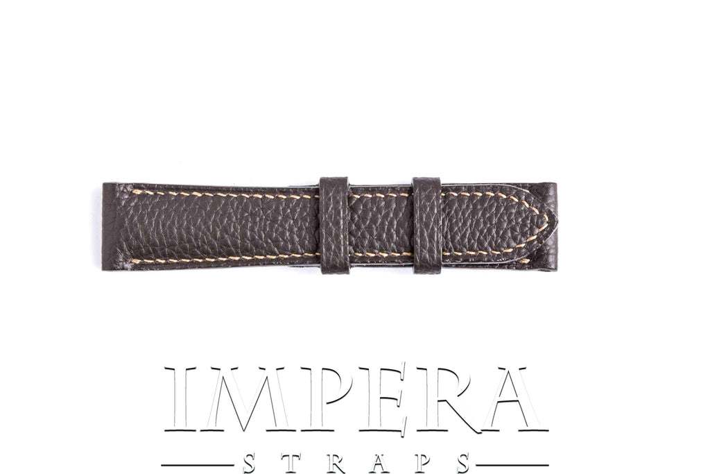 Genuine Hermes Chocolat Clemence Leather Watch Strap